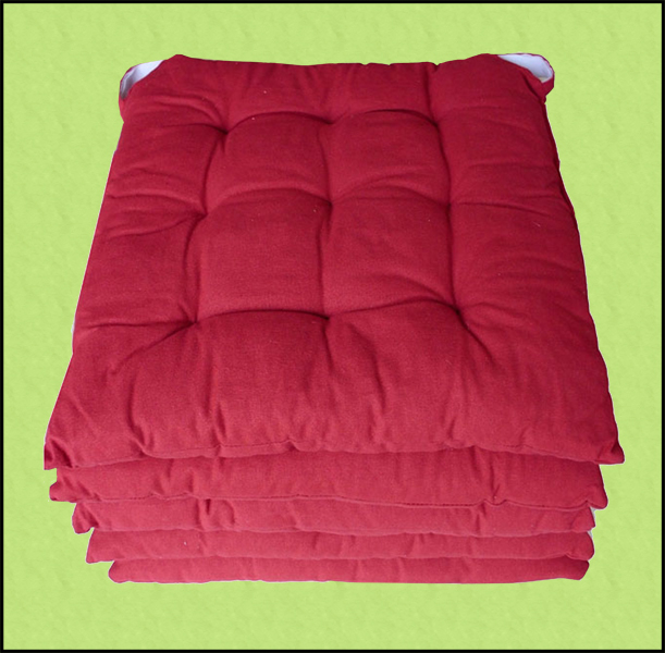 ... cuscini rettangolari di alta qualità in cotone imbottiti per le sedie