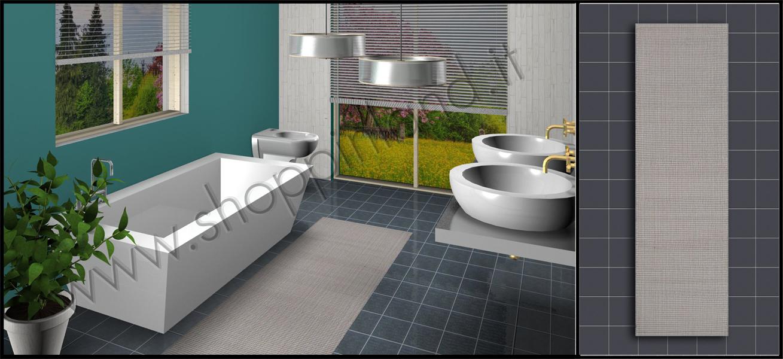 Tappeti shaggy scopri i nostri bellissimi tappeti per bagno in cotone rigati prezzi outlet - Tappeti moderni bagno ...