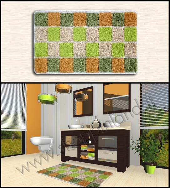 Tappeti shaggy rinnova il tuo bagno con gli originali tappeti design quadretti a prezzi scontati - Home design decoro shopping ...
