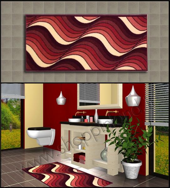 Rinnova il tuo bagno con gli originali tappeti design onde - Tappeto bagno rosso ...