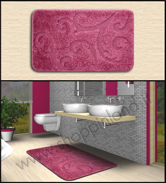 tappeti antiscivolo on line a prezzi  bassi che arredano il bagno rosa