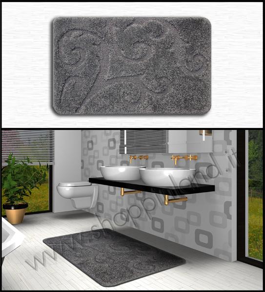 tappeti antisicvolo che arredano il bagno online a prezzi bassi shoppinland grigio