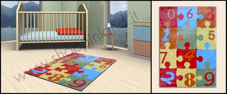 tappeti bambini decoro puzzle in sconto shoppinland
