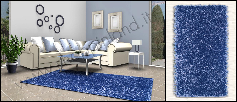 tappeti shaggy blu pelo lungo on line a prezzi scontati shoppinland