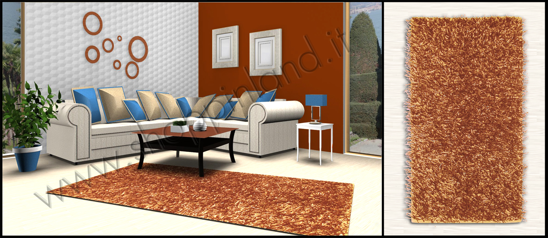 tappeti shaggy colore arancione a prezzi scontati online shoppinland