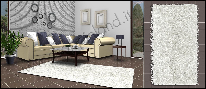 tappeti shaggy colore bianco online spaghetto a prezzi scontati  shoppinland