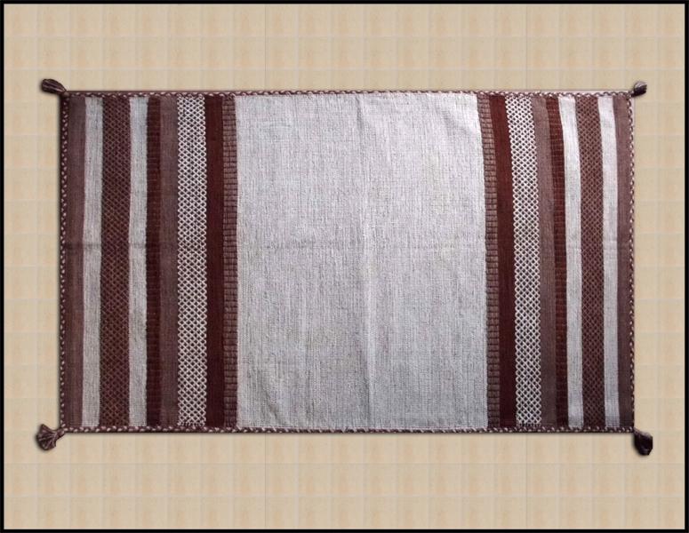 tappeti soggiorno decoro etnico cotone lavabile lavatrice marrone ...