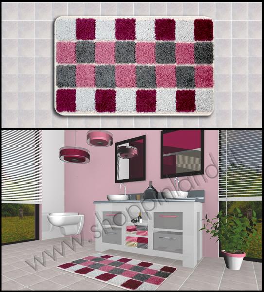 tappeti x bagno on line prezzi bassi colore rosa