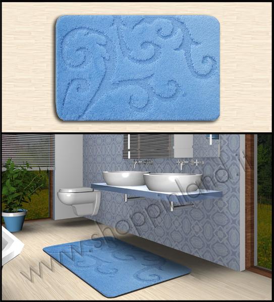 tappeto antiscivolo bagno a prezzi scontati azzurro