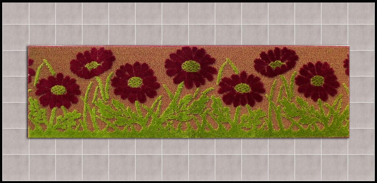 tappeto moderno per la cucina fiori rosso antiscivolo arreda la casa con shoppinland a prezzi bassi