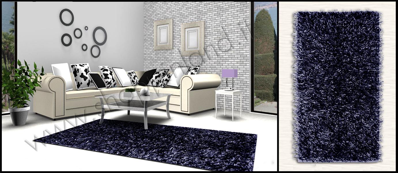tappeto shaggy pelo lungo colore nero a prezzi bassi  shoppinland