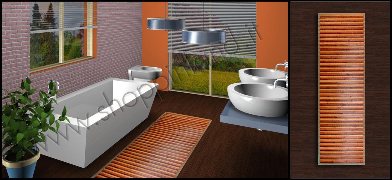 Tappeti Shaggy: arreda il bagno con i moderni tappeti in bamboo a ...