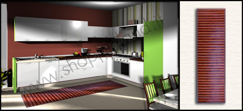 arreda la cucina con i tappeti in bamboo moderni e a prezzi bassi ... - Cucine Moderne Prezzi Bassi