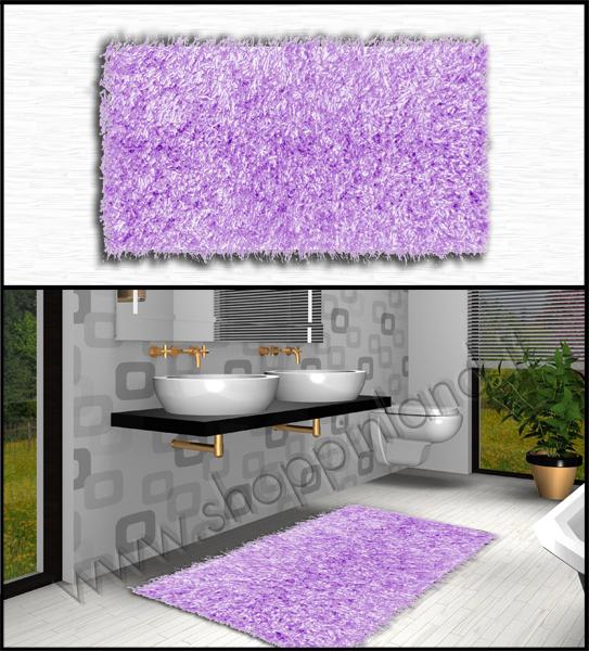 Tappeti shaggy eleganti e moderni per arredare il bagno ...