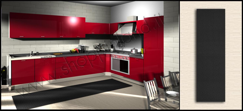 Tappeti in bamboo moderni per arredare la tua cucina low - Tappeti moderni per bagno ...