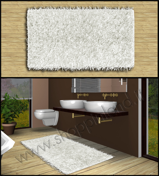 tappeti shaggy moderni per arredare bagno e soggiorno a prezzi ... - Bagni Moderni Eleganti