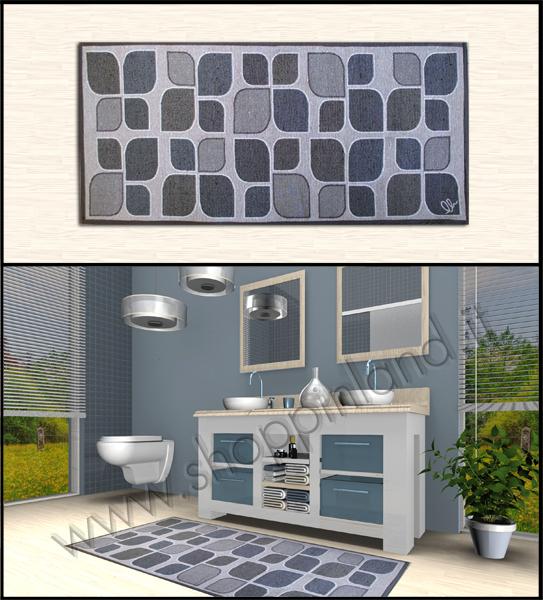 set 2 tappeti bagno di design in cotone softy pesca. tappeti ...