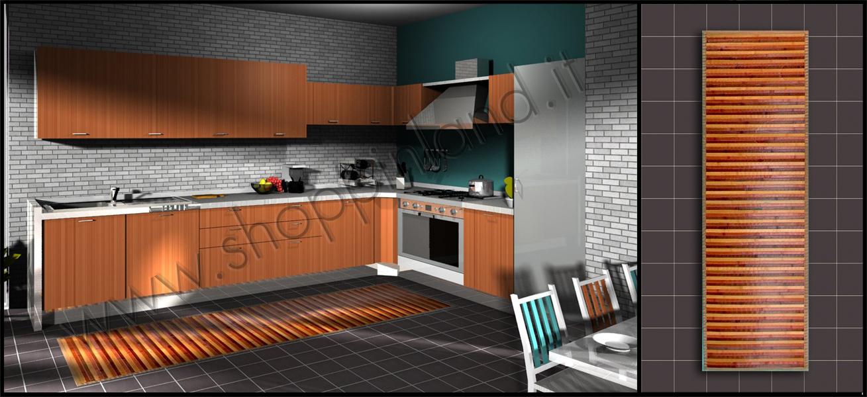 Tappeti cucina moderni a prezzi bassi shoppinland - Tappeto cucina bamboo ...