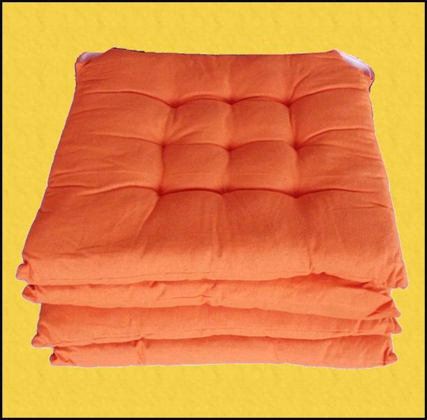 cuscini imbottiti sedie cucina quadrati arancione online shoppinland
