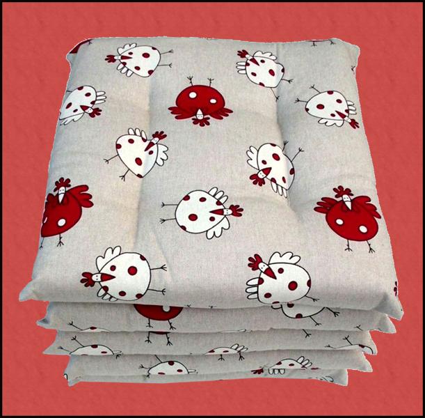 Cuscini in cotone per sedie della cucina low cost - Cuscini quadrati per divani ...
