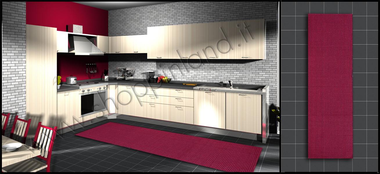 Tappeti in bamboo per arredare la cucina e il bagno in for Cucine e saloni moderni