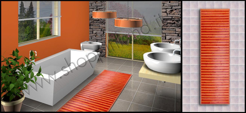 tappeti per il bagno e per la cucina in cotone moderni e pratici
