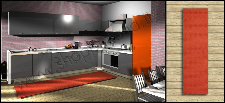 tappeti per la cucina arancione online alla moda su shoppinland