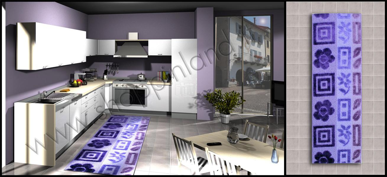 Tappeti moderni per la cucina online a prezzi bassi su shoppinland ...