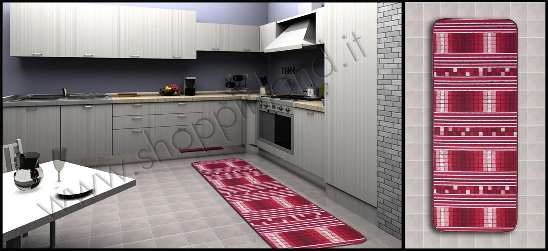 Tappeti per la cucina online in sconto su shoppinland - Tappeti bagno moderni ...