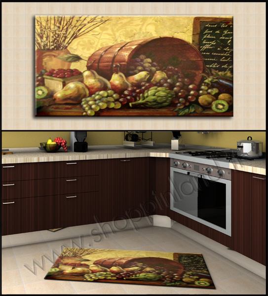 Tappeti moderni e decorati online per la cucina in sconto - Tappeti per cucina moderni ...
