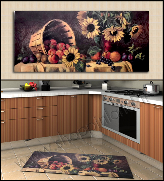 tappeti antimacchia per cucina decoro girasole online in sconto su shoppinland