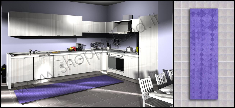 Tappeti per la cucina online in sconto su shoppinland eleganti e alla moda tronzano vercellese - Tappeti cucina antiscivolo ...