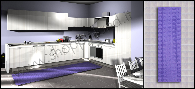 Tappeti per la cucina a prezzi outlet tappeti per la cucina eleganti e originali su shoppinland - Tappeti moderni bagno ...