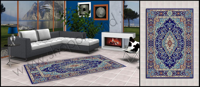 Tappeti glamour e alla moda per il soggiorno low cost for Soggiorno blu roma