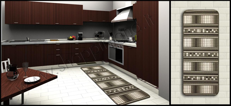 Tappeti trendy per la cucina che arredano e in sconto su - Tappeti bagno su misura ...