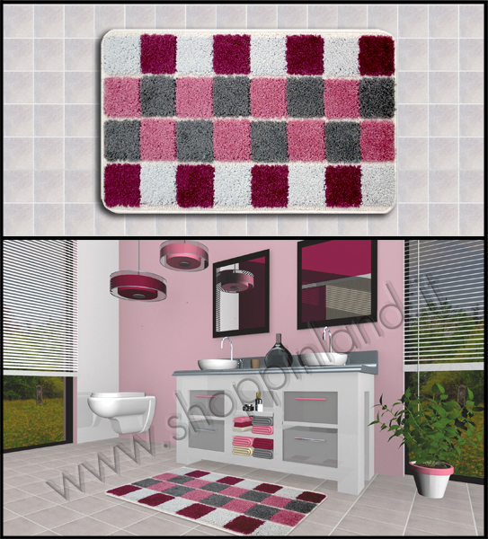 shoppinland tappeti moderni bagno | cuscini low cost - Bagni Moderni Rosa