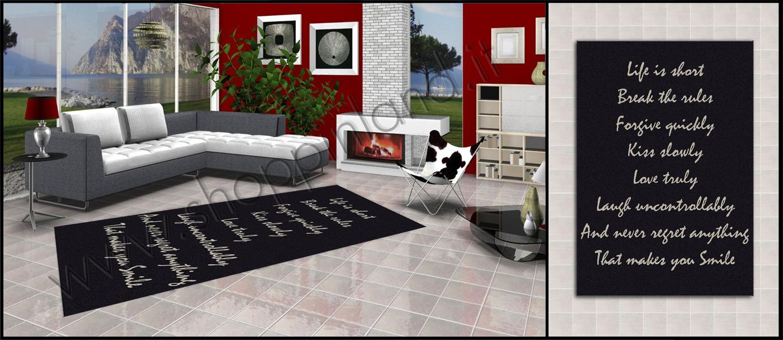 tappeti moderni in sconto su shoppinland glamour per il salotto ... - Tappeto Cucina Moderno