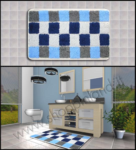 Tappeti glamour per il bagno online in sconto su shoppinland tronzano vercellese - Tappeti bagno design ...