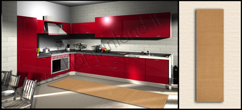 Tappeti shaggy moderni low cost: tappeto corsia cucina ...