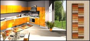 Tappeti Cucina Moderna in Cotone