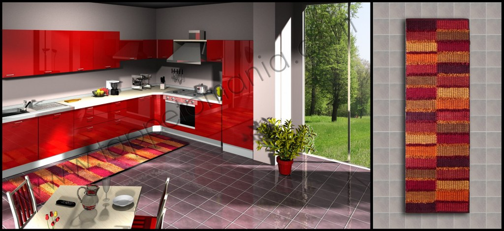 Tappeti per la cucina shoppinland - Cucina bordeaux ...