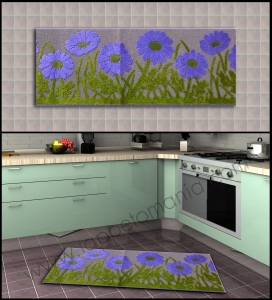 cucina fiori viola tappetomania