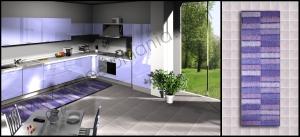 cucina tappeto righe peloso viola