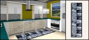 tappeti da cucina black white