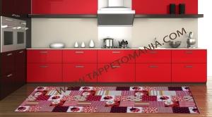 tappeto cucina coccinella rossa tappetomania
